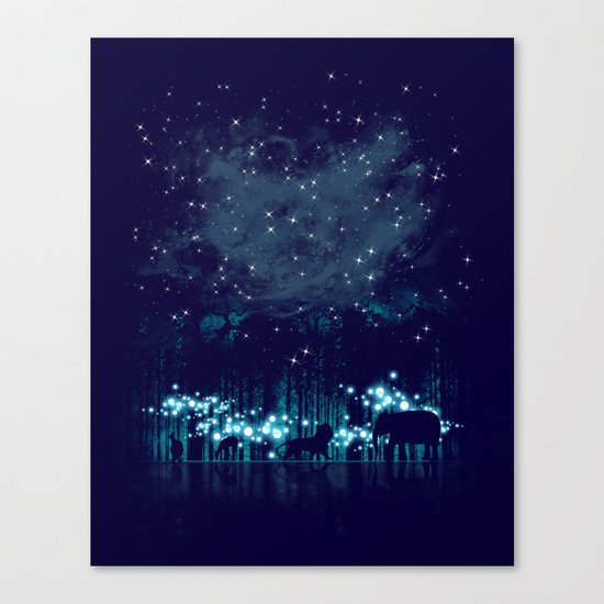 Cosmic Safari Canvas Print