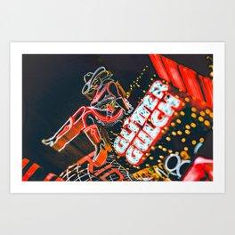 Las Vegas Cowgirl Art Print