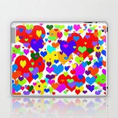 Beaucoup de coeurs de couleur Laptop & iPad Skin