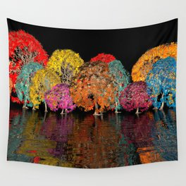 geometric horizon -11- Wall Tapestry