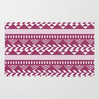 bands Area & Throw Rugs featuring Tribal Bands by stephaniemichalko
