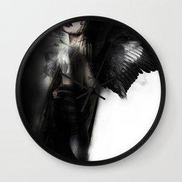 Dark Angel Girl Wall Clock
