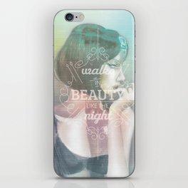 Walks in Beauty iPhone Skin