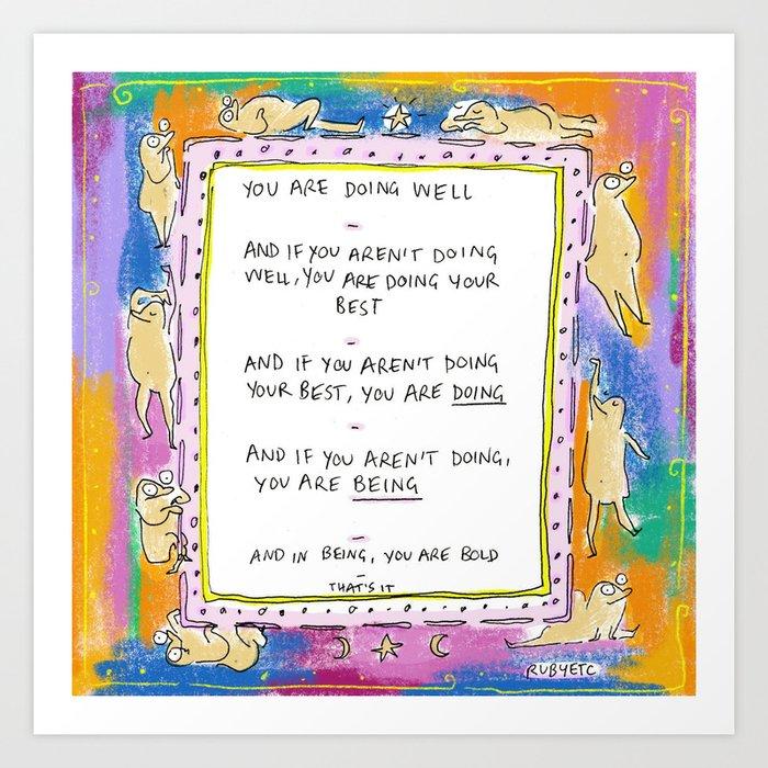 Being Bold Art Print