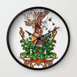 Woodland Rabbit King Wall Clock
