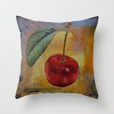 Vintage Cherry Throw Pillow