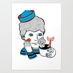Sailor at Tea Art Print