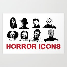 hORROR iCONS Art Print