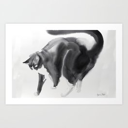 Bubi, my cat Art Print