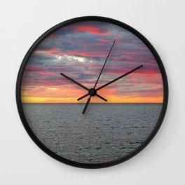 Pink Skies and Virga on the Sea Wall Clock