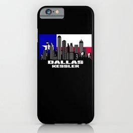 Dallas Kessler Texas Skyline Texan Flag iPhone Case