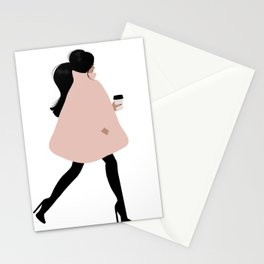Bubble Coat Illustration by Sabina Fenn Stationery Cards
