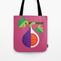 fig Tote Bags featuring Fruit: Fig by Christopher Dina