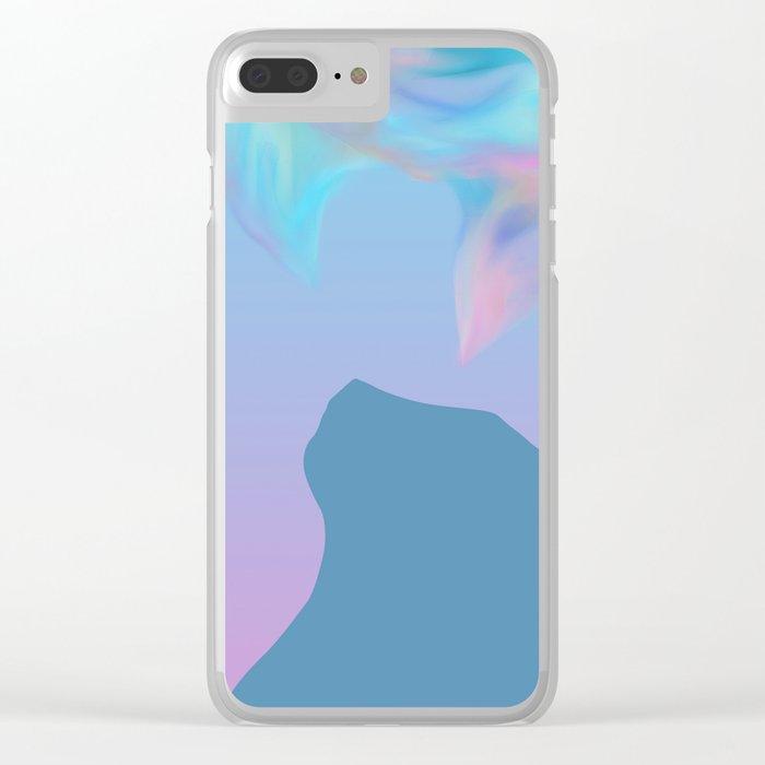 Cat Silhouette Design Clear iPhone Case