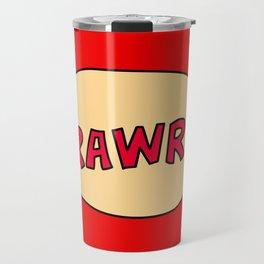 Rawr speech bubble Travel Mug