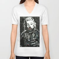death star V-neck T-shirts featuring Death Star by Matt Pecson