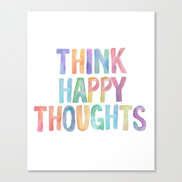 Think Hy Thoughts Nursery Wall Art Kids Room Printables Baby Canvas Print By Typodesign