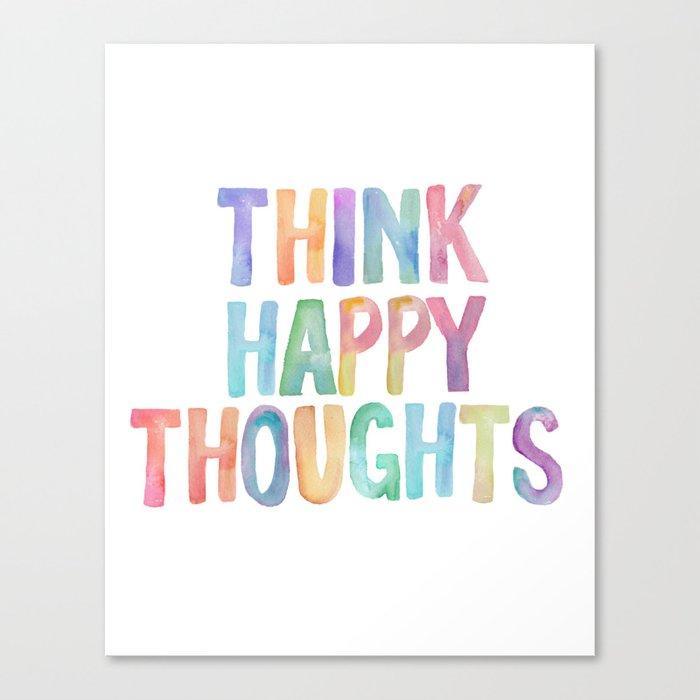 Think Happy Thoughts, Nursery Wall Art Kids Room, Nursery Printables ...