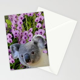 Koala and Orchids Stationery Cards