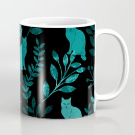 Watercolor Floral and Cat IV Coffee Mug