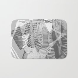Crown Pursuit -- Black and White Variant Bath Mat
