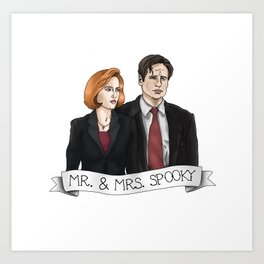 MR& MRS SPOOKY Art Print