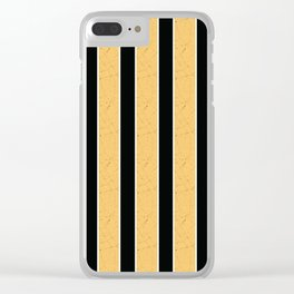 Simple yellow, black stripes. Clear iPhone Case