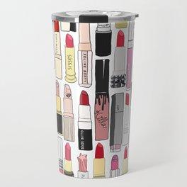 Lipsticks Makeup Collection Illustration Travel Mug