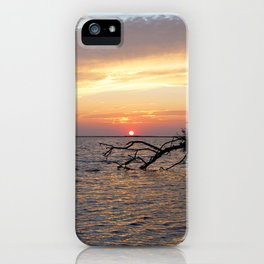 Watercolor Sunset, Janes Island 10, Maryland iPhone Case