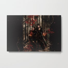 Outlaw Queen - Prince of Thieves and The Queen Metal Print
