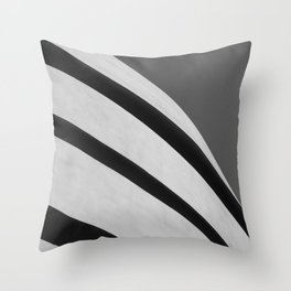 Blank Space   Modern Black and White Architecture Photography of New York City Throw Pillow