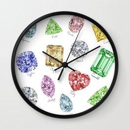 Gems pattern Wall Clock