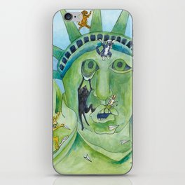 Statue of Liberty Canine Style iPhone Skin