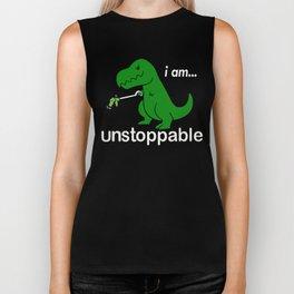 I am unstoppable Biker Tank