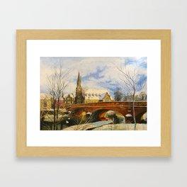 Morpeth (with Swanns) Framed Art Print