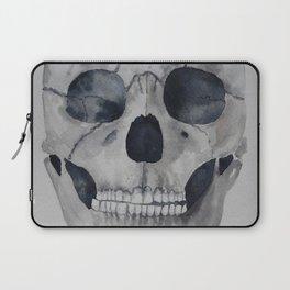 Human skull watercolour Laptop Sleeve