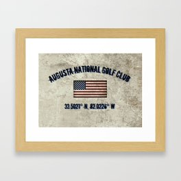 Augusta National Golf Club, Coordinates Framed Art Print