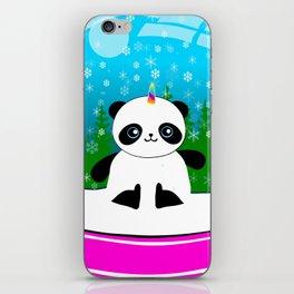 Pandacorn in a Snowglobe iPhone Skin