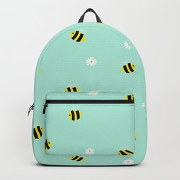 Bees and daisies Backpack