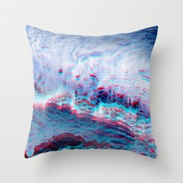 Abstract waves glitch Throw Pillow