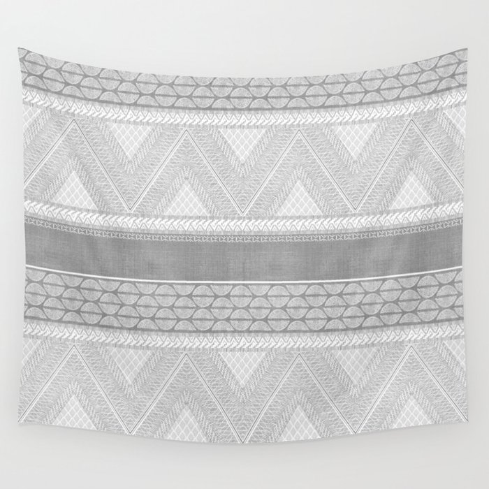 Dutch Wax Tribal Print in Grey