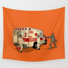 Robot Robbers Wall Tapestry