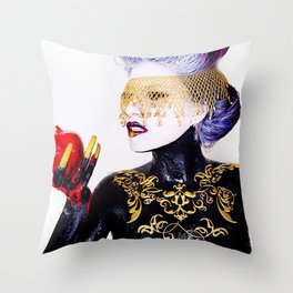 The Poisoned Apple Throw Pillow