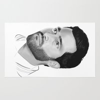 tyler spangler Area & Throw Rugs featuring Tyler Hoechlin by Finduilas