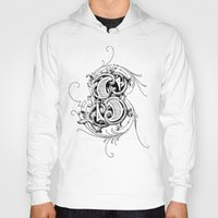 monogram Hoodies featuring monogram s by Art Lahr