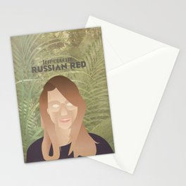 Russian Red Stationery Cards