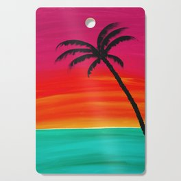 Sunset Palm 2 Cutting Board