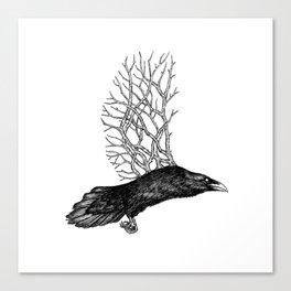 Branch Bird Canvas Print