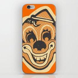 Retro Creepy Halloween Clown Face Mask iPhone Skin