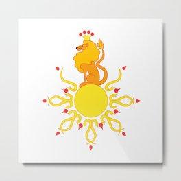 The Sun King Metal Print